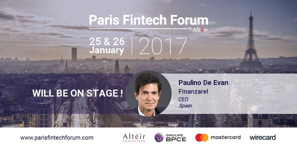 Finanzarel participará como ponente en el Paris Fintech Forum