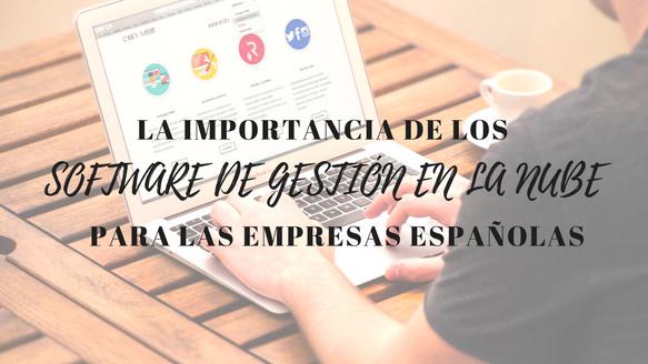 La importancia de los software de gestión en la nube para las empresas españolas
