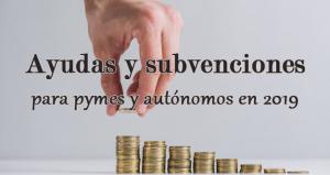 Ayudas y subvenciones para pymes y autónomos en 2019