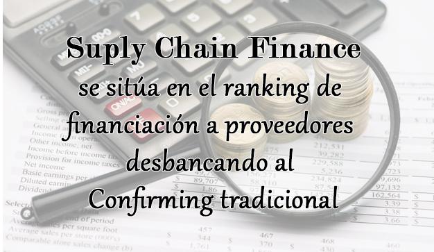Suply Chain Finance se sitúa en el ranking de financiación a proveedores desbancando al Confirming tradicional